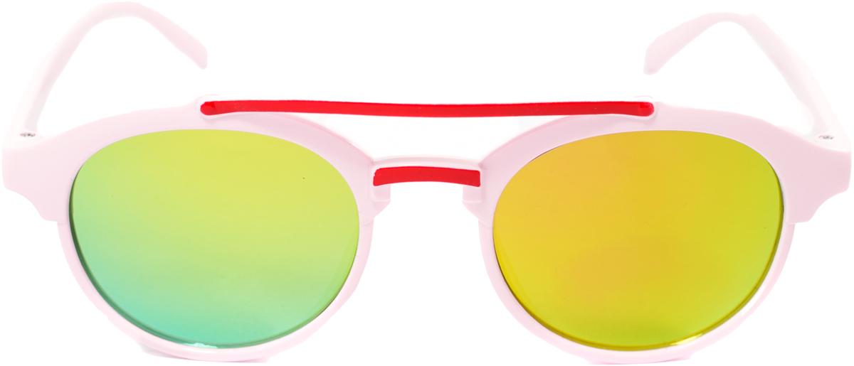 Очки солнцезащитные детские Mitya Veselkov, цвет: красный, розовый. OS-208BM8434-58AEПрекрасные антибликовые очки Mitya Veselkov, станут прекрасным и стильным аксессуаром для вашего ребенка и защитят его от УФ лучей. Они помогут глазу более четко распознать картинку, засвеченную солнечными лучами, при этом скорректируют все возникшие искажения.
