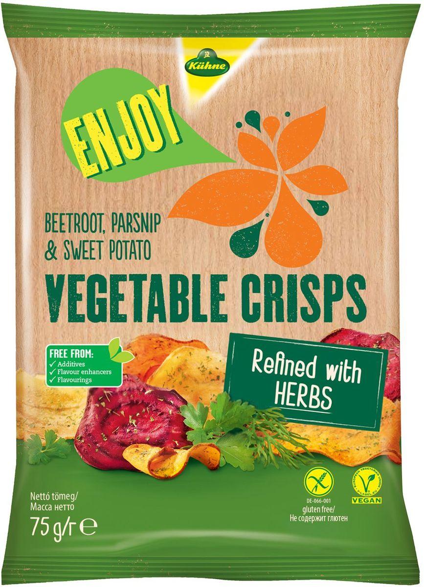 Kuhne Овощные чипсы с травами, 75 г0440202