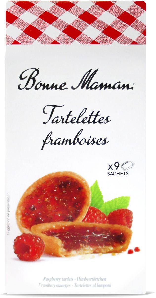 Bonne Maman Tartelettes Сдобное печенье с малиновой начинкой, 135 г1530201