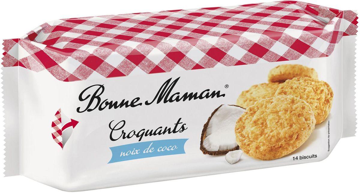 Bonne Maman Песочное хрустящее печенье с кокосом, 150 г0120710Необычайный аромат и насыщенный изысканный вкус кокоса в сдобной французской выпечке по старинным рецептам позволит перенестись на Парижские улочки и почувствовать себя французом.