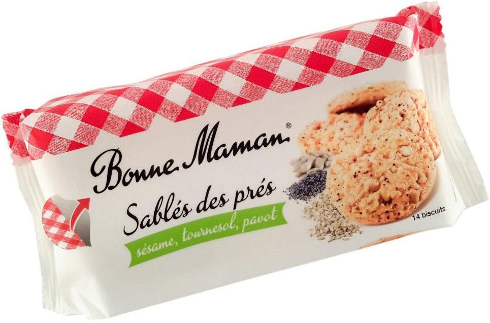 Bonne Maman Песочное печенье с маком, кунжутом и семечками, 150 г1530219