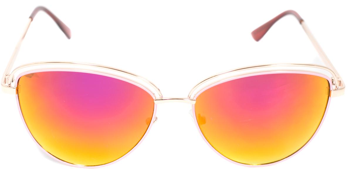 Очки солнцезащитные женские Mitya Veselkov, цвет: золотистый. OS-225INT-06501Прекрасные антибликовые очки Mitya Veselkov, станут прекрасным и стильным аксессуаром для вас и защитят от УФ лучей. Они помогут глазу более четко распознать картинку, засвеченную солнечными лучами, при этом скорректируют все возникшие искажения.