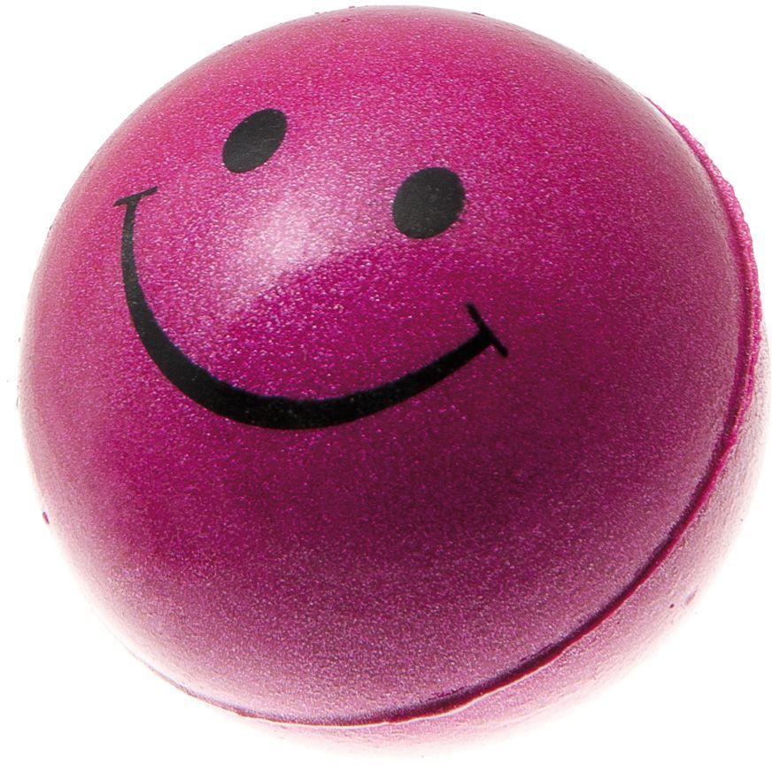 Мяч V.I.Pet Смайлик, цвет: розовый металлик, 47 мм. 20-110220-1102