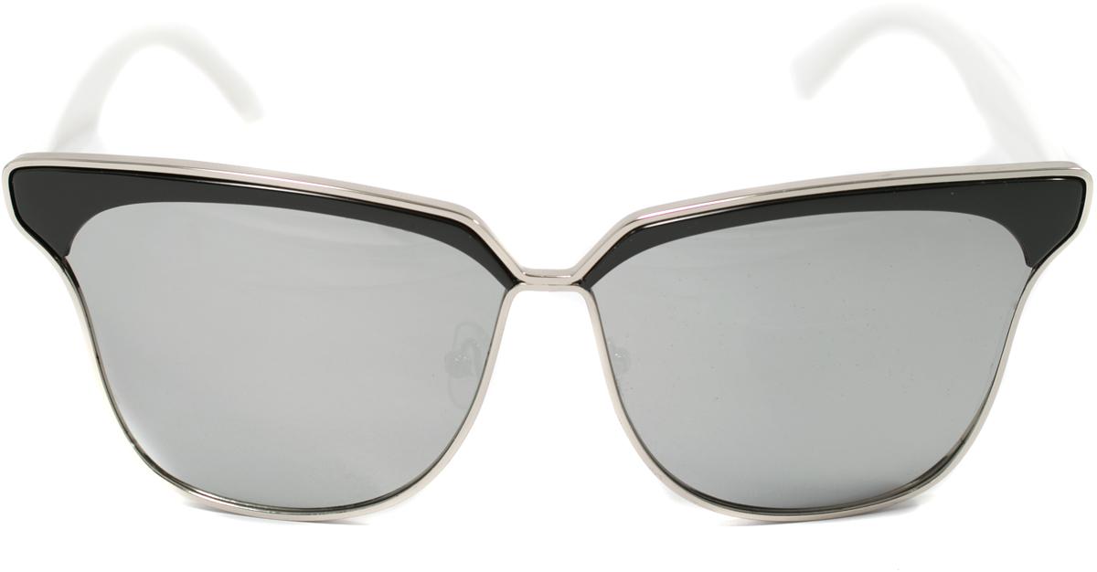 Очки солнцезащитные женские Mitya Veselkov, цвет: черный, белый. OS-111BM8434-58AEПрекрасные антибликовые очки Mitya Veselkov, станут прекрасным и стильным аксессуаром для вас и защитят от УФ лучей. Они помогут глазу более четко распознать картинку, засвеченную солнечными лучами, при этом скорректируют все возникшие искажения.