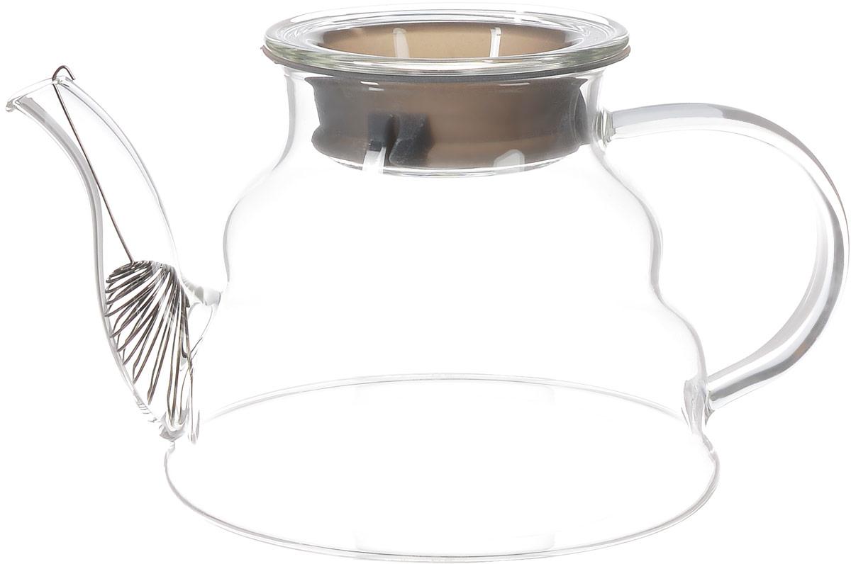 Чайник заварочный Hunan Provincial Тама, 750 мл15055Заварочный чайник Hunan Provincial Тама изготовлен из стекла. Этот чайник радует глаз своей оригинальной формой. Удобная ручка позволяет крепко держать чайник в руке. Крышка уберегает от ожогов, а оригинальное сито, зафиксированное на носике чайника прекрасно фильтрует чайный настой, и не мешает наслаждению цветом напитка. Диаметр чайника (по верхнему краю): 7,5 см. Высота чайника (без крышки): 10,5 см.