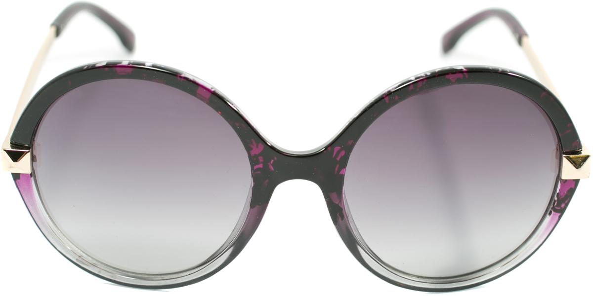 Очки солнцезащитные женские Mitya Veselkov, цвет: черный, фиолетовый. OS-122BM8434-58AEПрекрасные антибликовые очки Mitya Veselkov, станут прекрасным и стильным аксессуаром для вас и защитят от УФ лучей. Они помогут глазу более четко распознать картинку, засвеченную солнечными лучами, при этом скорректируют все возникшие искажения.