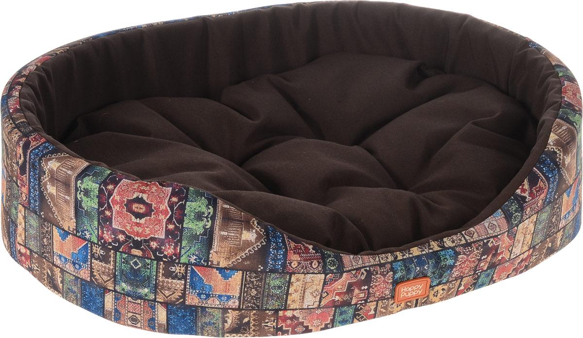Лежак для собак Happy Puppy Восточные сказки-4, 57 x 44 x 15 смHP-160065-4Мягкий лежак Happy Puppy Восточные сказки-4 обязательно понравится вашему питомцу. Он предназначен для собак мелких пород и изготовлен из полиэстера и хлопка, внутри - мягкий наполнитель из мебельного поролона. Стежка надежно удерживает наполнитель внутри и не позволяет ему скатываться. Лежак очень удобный и уютный, он оснащен мягкой съемной подстилкой с наполнителем из холлофайбера. Высокие бортики обеспечат вашему любимцу уют. За изделием легко ухаживать, его можно стирать вручную. Мягкий лежак станет излюбленным местом вашего питомца, подарит ему спокойный и комфортный сон, а также убережет вашу мебель от шерсти.