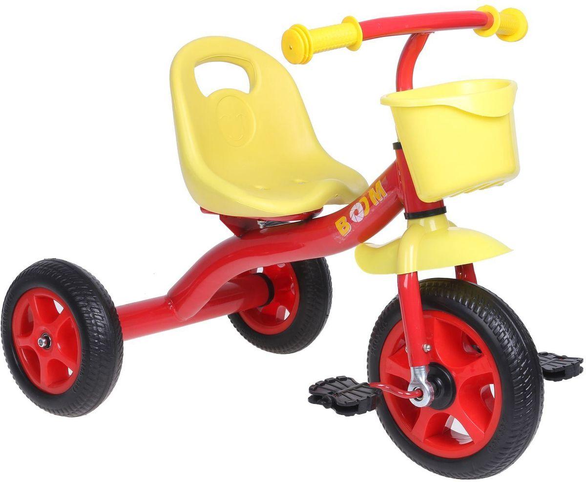 Micio Велосипед детский трехколесный Micio Boom 2017 цвет красный1723820Удобный, надёжный, стильный трёхколёсный велосипед — находка для начинающего спортсмена. Прочная стальная рама и пластиковые колёса выдержат любые испытания во время заездов в парке или во дворе. Широкое сиденье со спинкой сделает поездку комфортной. А для игрушек и других необходимых велосипедисту предметов предусмотрена удобная пластиковая корзинка. Размеры Длина от заднего колеса до переднего: 70 см. Расстояние между задними колёсами: 48 см. Высота от руля до пола: 60 см. Высота от седла до пола: 32 см. Расстояние от середины седла до дальней педали: 47 см. Масса нетто: 3,5 кг. Максимальная нагрузка: 30 кг.