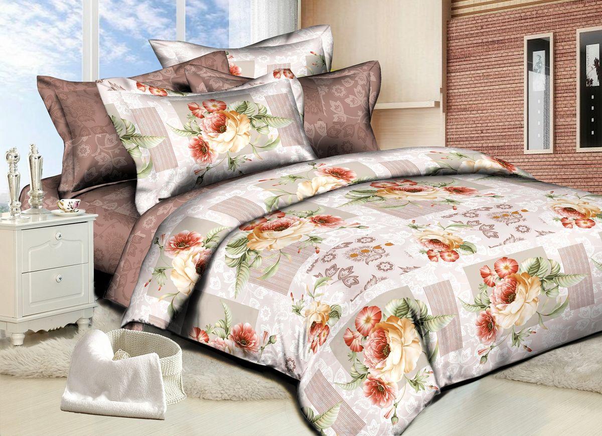 Комплект белья Amore Mio Rose, 1,5-спальный, наволочки 70x7082862Комплект постельного белья Amore Mio является экологически безопасным для всей семьи, так как выполнен из сатина (100% хлопок). Постельное белье оформлено оригинальным рисунком и имеет изысканный внешний вид. Сатин - это ткань сатинового (атласного) переплетения нитей. Имеет гладкую, шелковистую лицевую поверхность, на которой преобладают уточные нити (уток - горизонтально расположенные в тканом полотне нити). Сатин изготавливается из крученой хлопковой нити двойного плетения. Он чрезвычайно приятен на ощупь, не электризуется и не скользит по кровати. Сатин прекрасно сохраняет форму и не мнется, отлично пропускает воздух, что позволяет телу дышать и дарит здоровый и комфортный сон. Комплект состоит из пододеяльника, простыни и двух наволочек.