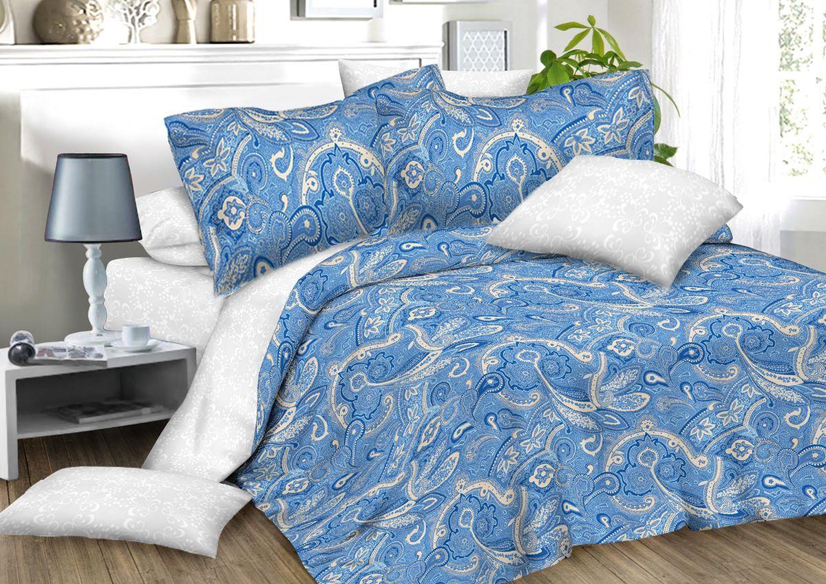 Комплект белья Amore Mio Paisly, 2-спальный, наволочки 70x7082916Комплект постельного белья Amore Mio является экологически безопасным для всей семьи, так как выполнен из сатина (100% хлопок). Постельное белье оформлено оригинальным рисунком и имеет изысканный внешний вид. Сатин - это ткань сатинового (атласного) переплетения нитей. Имеет гладкую, шелковистую лицевую поверхность, на которой преобладают уточные нити (уток - горизонтально расположенные в тканом полотне нити). Сатин изготавливается из крученой хлопковой нити двойного плетения. Он чрезвычайно приятен на ощупь, не электризуется и не скользит по кровати. Сатин прекрасно сохраняет форму и не мнется, отлично пропускает воздух, что позволяет телу дышать и дарит здоровый и комфортный сон. Комплект состоит из пододеяльника, простыни и двух наволочек.