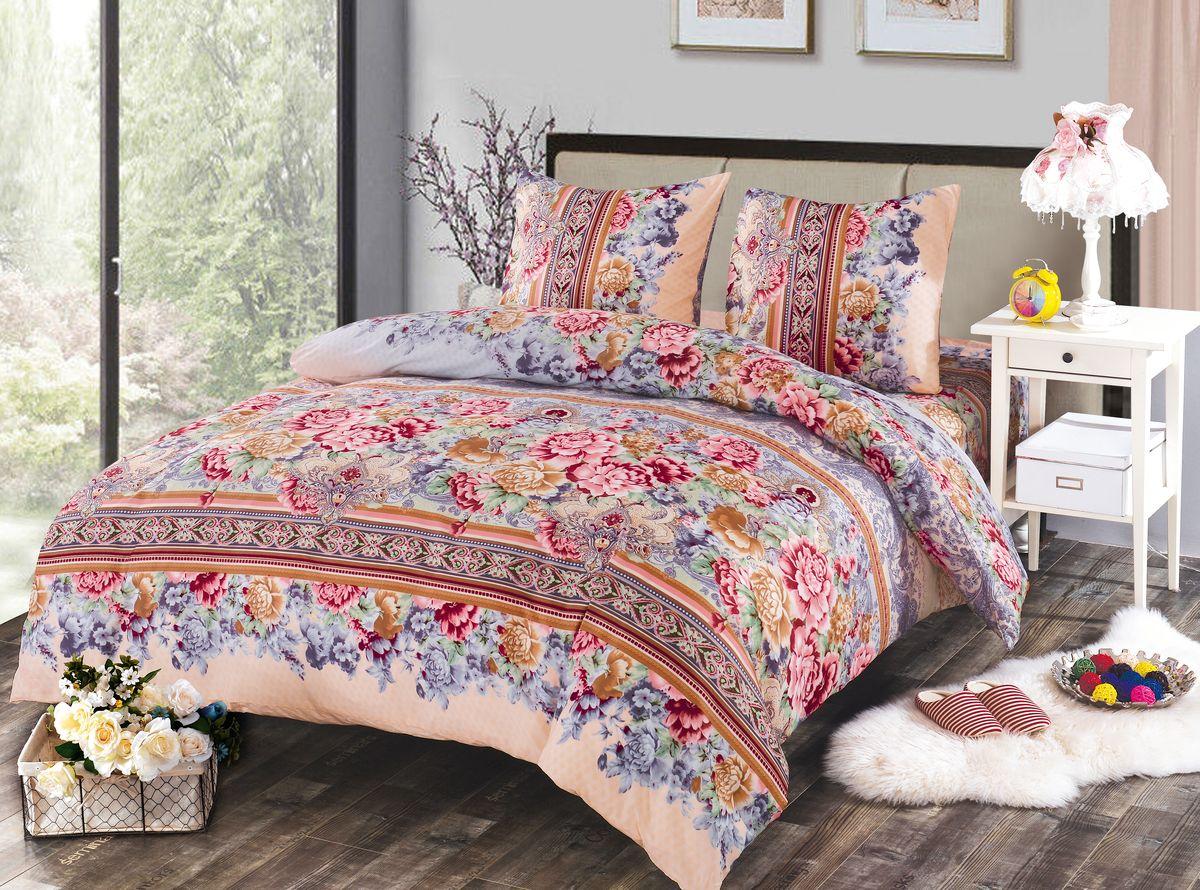 Комплект белья Amore Mio Molly, 1,5-спальный, наволочки 70x7084485Комплект постельного белья Amore Mio изготовлен из мако-сатина. Нано-инновации позволили открыть новую ткань, которая сочетает в себе широкий спектр отличных потребительских характеристик и невысокой стоимости. Легкая, плотная, мягкая ткань, приятна и обладает эффектом персиковой кожуры. Отлично стирается, гладится, быстро сохнет. Дисперсное крашение великолепно передает качество рисунков и необычайно устойчиво к истиранию. Комплект состоит из пододеяльника, простыни и двух наволочек.