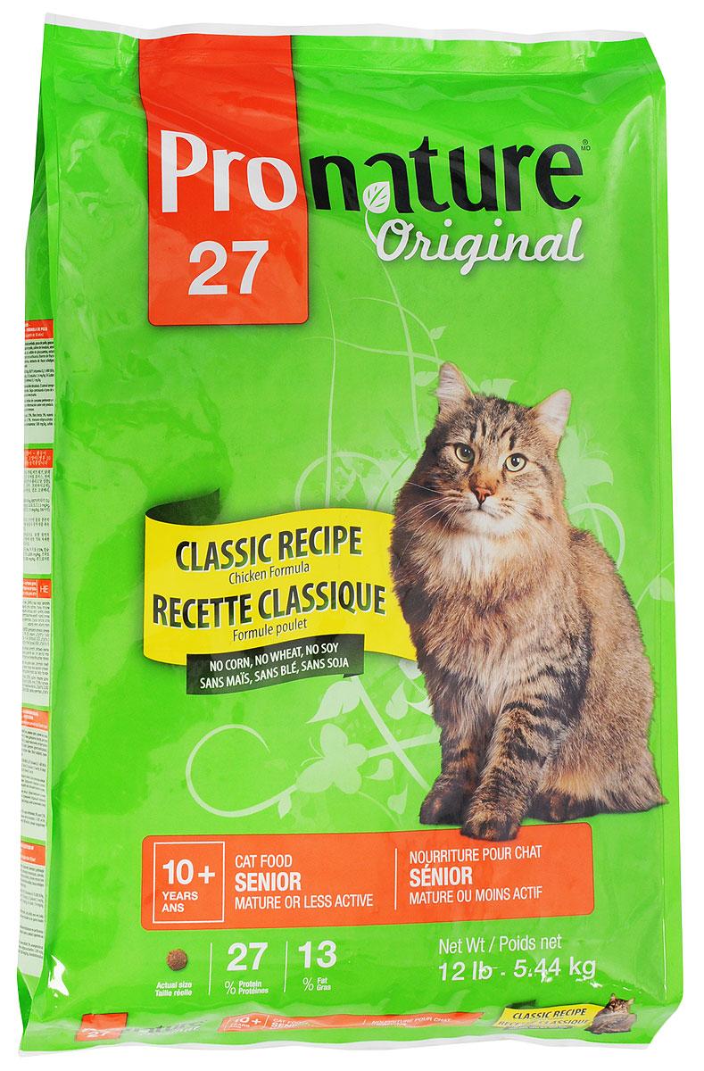 Корм сухой Pronature Original 27 для стареющих кошек, облегченный, с курицей, 5,44 кг0120710Повзрослев и став менее активной, ваша кошка по-прежнему нуждается в тщательно подобранном рационе с учетом физиологических потребностей и вкусовой избирательности. Приготовленная с вниманием и заботой формула корма Pronature Original 27с курицей, без кукурузы, пшеницы и сои, содержит в себе все питательные вещества, необходимые для поддержания здоровья и внешнего вида. Формула де-люкс - для прекрасного самочувствия вашего питомца!Товар сертифицирован.