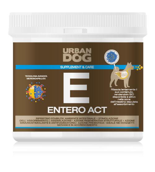 Пищевая добавка Urban Dog Entero Act, для улучшения микрофлоры кишечника, 100 гUD304EN1ЭНТЕРО АКТ благодаря действию M.O.S. (маннано-олиго-саккариды) восстанавливает правильное развитие ФЛОРЫ КИШЕЧНИКА и УЛУЧШАЕТ УСВОЯЕМОСТЬ питательных веществ через структурное восстановление стенок кишечника и стимулирует рост шерсти. ЭНТЕРО АКТ усиливает секрецию иммуноглобулина, ответственного за иммунную защиту слизистой кишечника. Питательная добавка особенно подходит для использования в случаях явного расстройства обмена веществ и диареи.