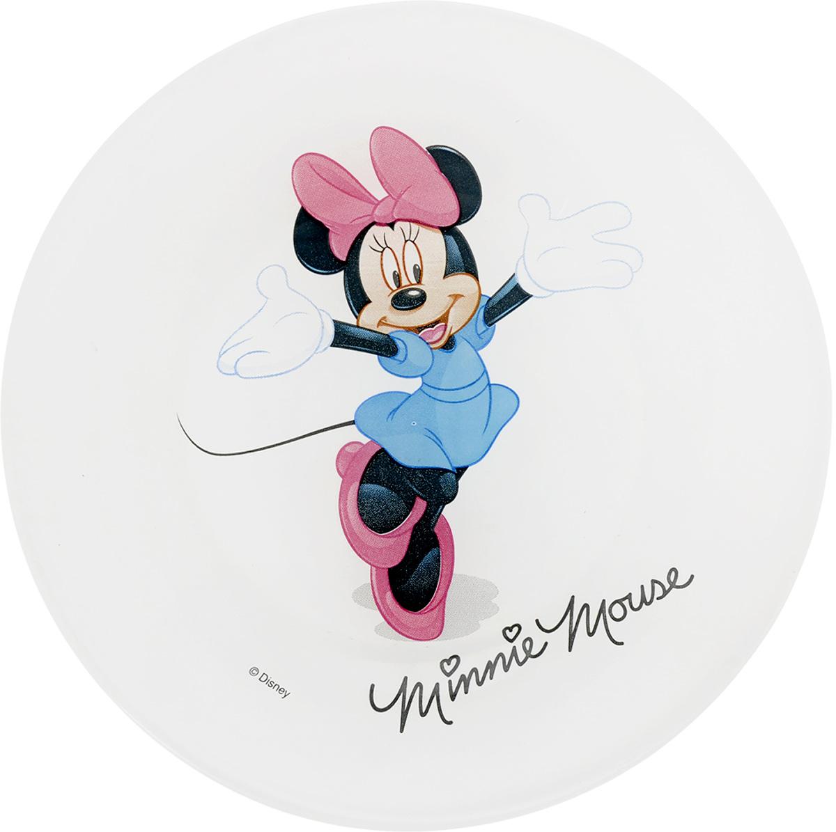 Тарелка десертная Luminarc Minnie Colors, диаметр 19,5 смL2121Десертная тарелка Luminarc Minnie Colors, изготовленная из ударопрочного стекла, имеет приятный внешний вид. Такая тарелка обязательно понравится вашему ребенку. Идеальна для подачи десертов, пирожных, тортов и многого другого. Она прекрасно оформит стол и станет отличным дополнением к вашей коллекции кухонной посуды. Диаметр тарелки (по верхнему краю): 19,5 см. Высота тарелки: 1,5 см.