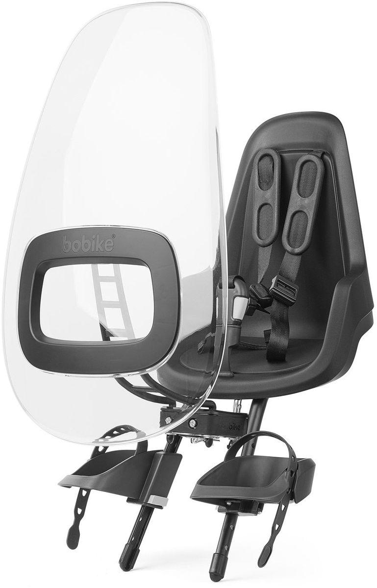Ветровое стекло для велокресел Bobike Windscreen One +, цвет: черный6056Ветровое стекло BOBIKE ONE+ сделано из крепкого, ударопрочного и полностью прозрачного пластика. Его привлекательный дизайн и цветовые акценты отлично сочетаются с Вашим велокреслом BOBIKE ONE Mini. Ветровое стекло регулируется по наклону и обеспечивает полную защиту ребёнка от ветра и дождя. Вы можете установить лобовое стекло прямо в крепёж велокресла. Система крепления Click & Go позволяет быстро и без инструментов установить и снять стекло, а так же переставить его между разными велокреслами.• Для велокресел BOBIKE• Ударопрочная конструкция• Система Click & Go• Регулируемый наклон стекла• Совместимо с велокреслами BOBIKE ONE Mini• Установка без инструментов• Голландский дизайн • Сделано в Европе
