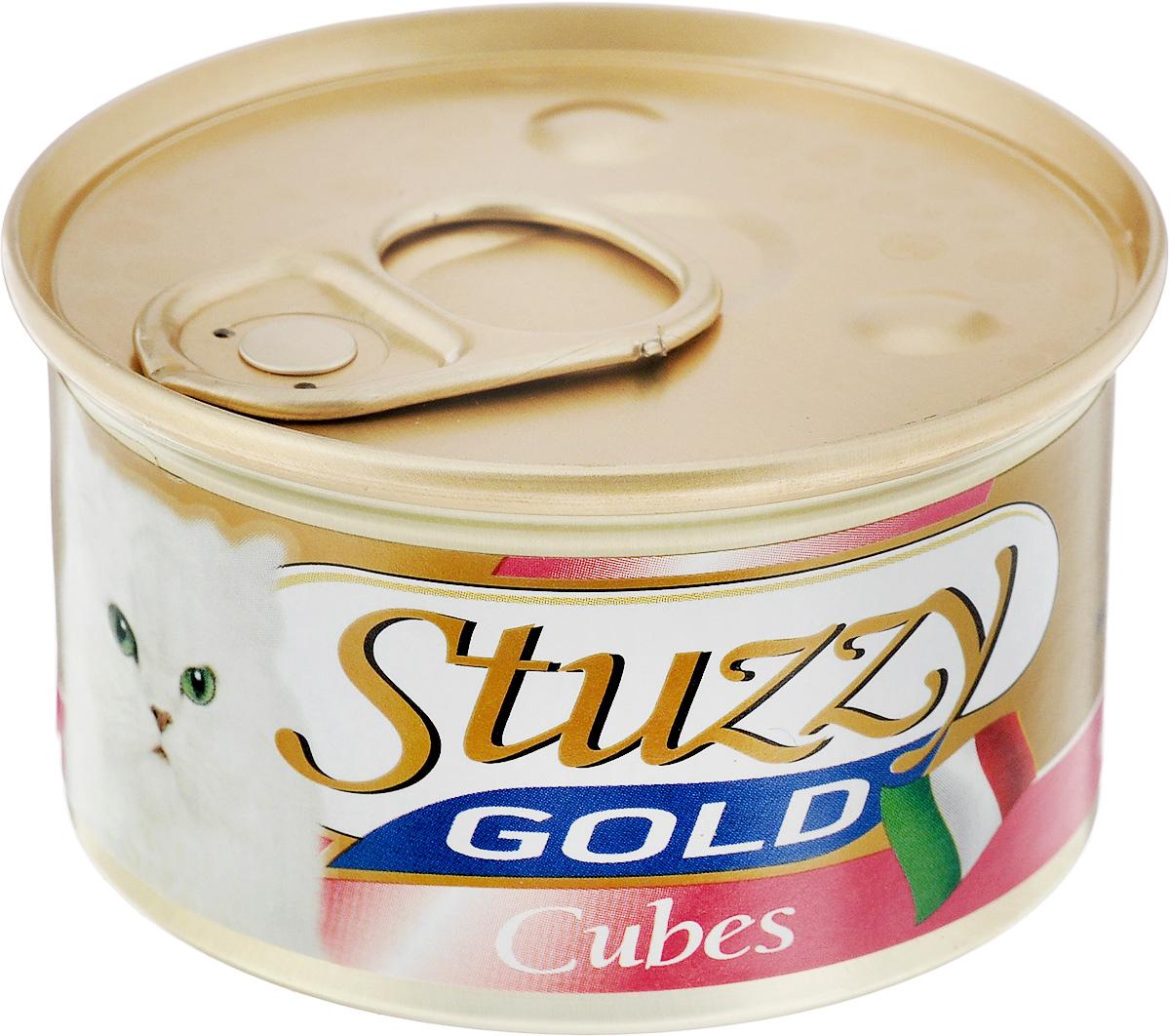 Консервы для взрослых кошек Stuzzy Gold, с курицей, 85 г132.C434Консервы для кошек Stuzzy Gold - это дополнительный рацион для взрослых кошек. Корм обогащен таурином и витамином Е для поддержания правильной работы сердца и иммунной системы. Инулин обеспечивает всасывание питательных веществ, а биотин способствуют великолепному внешнему виду кожи и шерсти. Корм приготовлен на пару, не содержит красителей и консервантов. Состав: мясо и мясные субпродукты 55% (из них курица 23%). Питательная ценность: белок 9%, жир 5,5%, клетчатка 0,1%, зола 2%, влажность 80%. Питательные добавки (на кг): витамин А 1177 МЕ, витамин D3 700 МЕ, витамин Е 40 мг, таурин 300 мг, железо 63,14 мг, цинк 40,8 мг, медь 2,32 мг, марганец 3,25 мг, селен 0,155 мг, йод 0,76 мг. Товар сертифицирован.