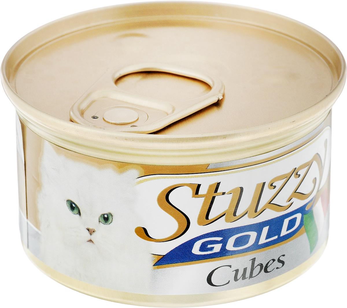 Консервы для взрослых кошек Stuzzy Gold, индейка, 85 г. 132.C4350120710Консервы для кошек Stuzzy Gold - это дополнительный рацион для взрослых кошек. Корм обогащен таурином и витамином Е для поддержания правильной работы сердца и иммунной системы. Инулин обеспечивает всасывание питательных веществ, а биотин способствуют великолепному внешнему виду кожи и шерсти. Корм приготовлен на пару, не содержит красителей и консервантов. Состав: мясо и мясные субпродукты 45% (из них индейка 13%).Питательная ценность: белок 9%, жир 5,5%, клетчатка 0,1%, зола 2%, влажность 80%. Питательные добавки (на кг): витамин А 1177 МЕ, витамин D3 700 МЕ, витамин Е 40 мг, таурин 300 мг, железо 63,14 мг, цинк 40,8 мг, медь 2,32 мг, марганец 3,25 мг, селен 0,155 мг, йод 0,76 мг. Товар сертифицирован.