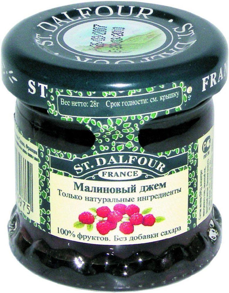St.Dalfour Джем Малина, 28 г207021Без добавления сахара, консервантов, искусственных ароматизаторов и красителей. Содержит только натуральные ингредиенты.