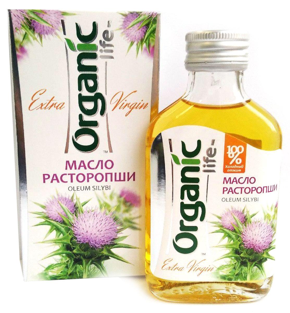 Organic Life масло расторопши, 100 мл212029Масло расторопши (из семян расторопши, выращенной на Юге Сибири) содержит редчайший комплекс флавоноидов силимарин, оказывающий выраженное гепатопротекторное, антиоксидантное и противовоспалительное действие. Вещество обезвреживает попавшие в организм яды и токсины, прежде чем они негативно скажутся на работе печени и желчевыводящих путей. Исследователи отмечают, что на сегодняшний день силимарин – единственное природное соединение, которое надежно защищает клетки печени и восстанавливает их мембраны. В масле расторопши содержатся макро- и микроэлементы, вся группа жирорастворимых витаминов (А, D, Е, К), полиненасыщенные жирные кислоты (Омега-3 и Омега-6), важнейшие аминокислоты, флаволигнаны (препятствуют проникновению ядовитых веществ в печень). Масло расторопши обладает нейтральным вкусом и ароматом. Способ применения: по 1 ч.л. 2-3 раза в день.