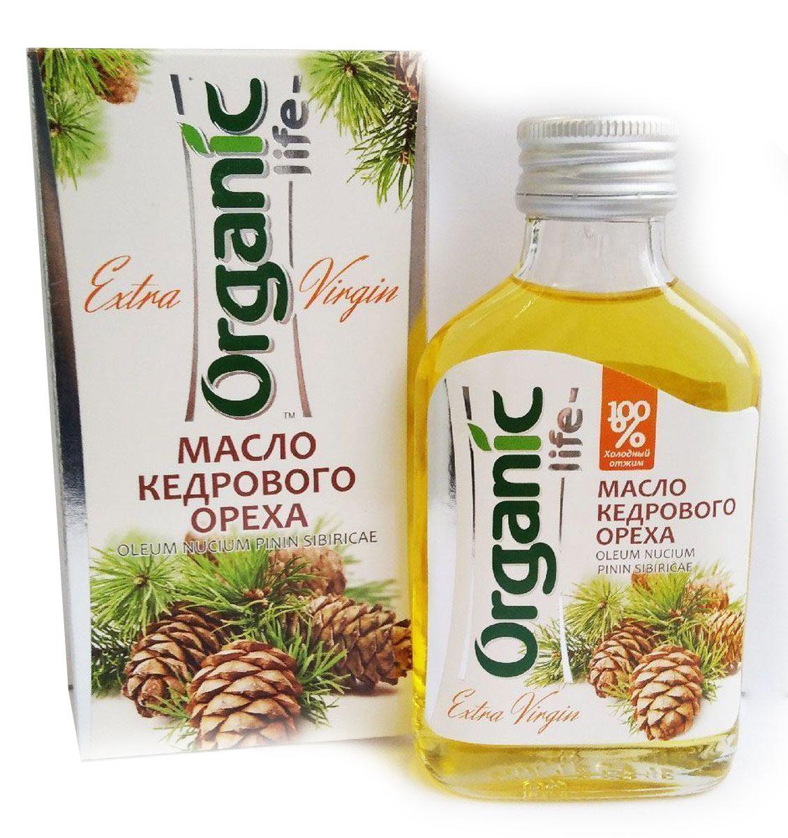 Organic Life масло кедрового ореха, 100 мл212036Масло кедровое (из ядер сибирского кедрового ореха) - настоящая природная кладовая необходимых человеку веществ. В его составе гармонично сочетаются витамины (Е, А, группа В, РР, D), аминокислоты, микроэлементы, фосфолипиды. Особую ценность представляет комплекс полиненасыщенных жирных кислот Омега-6 и Омега-3 (витамин Р), которые не синтезируются в организме, поэтому должны поступать с пищей. Они положительно воздействуют на структуры стенок сосудов и активно участвуют в синтезе различных гормонов, сохраняя молодость, здоровье и красоту. Кедровое масло содержит редко встречающуюся в природе гамма-линоленовую кислоту. Она обладает противовоспалительным действием, предупреждает образование тромбов, снижает уровень плохого холестерина в крови, контролирует возникновение жировых клеток, ускоряет расщепление жиров, помогает избавиться от лишнего веса. Кедровое масло обладает тонким ореховым вкусом и ароматом, может улучшить вкус любого блюда. Способ применения: по 1 ч.л. 2-3 раза в день.