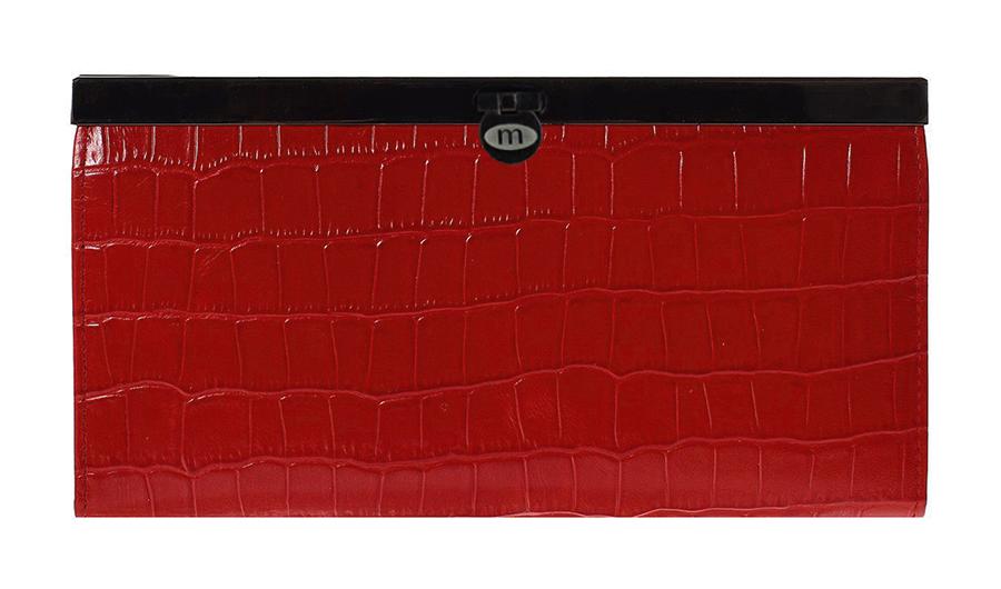 Кошелек Malgrado, цвет: красный. 73003-43702#73003-43702#Стильный кошелек Malgrado выполнен из лаковой натуральной кожи красного цвета с декоративным тиснением под крокодила. Внутри содержит два горизонтальных кармана из кожи для бумаг, четыре кармашка для кредитных карт, два кармашка со вставками из прозрачного пластика, отделение на молнии для мелочи и четыре отделения для купюр. Кошелек упакован в подарочную металлическую коробку с логотипом фирмы. Такой кошелек станет замечательным подарком человеку, ценящему качественные и практичные вещи. Характеристики: Материал: натуральная кожа, текстиль, металл. Размер кошелька: 19 см х 10 см х 2 см. Цвет: красный. Размер упаковки: 23 см х 13 см х 4,5 см. Артикул: 73003-19902.