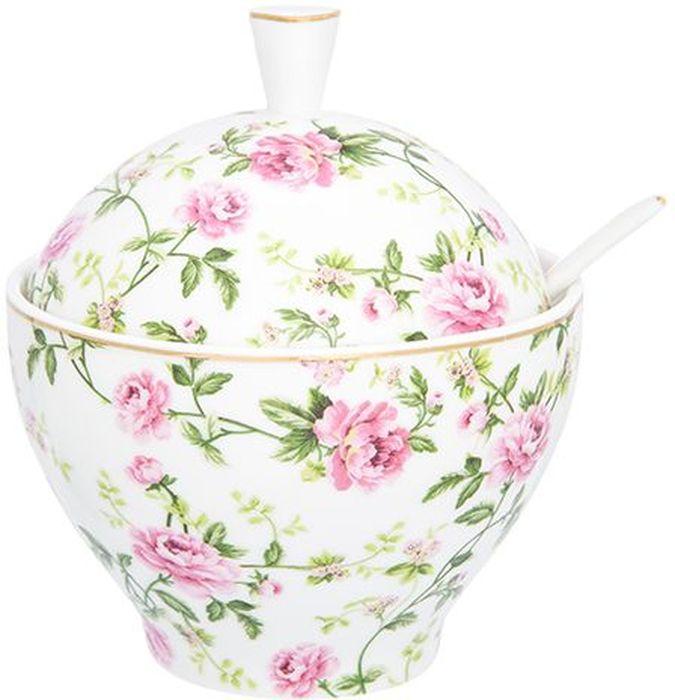 Сахарница Elan Gallery Плетистая роза, с ложкой, 400 мл., с ложкой740404Традиционная сахарница объемом 400 мл универсальна, подойдет для сахара, и для соли, и для специй. Изделие имеет подарочную упаковку, поэтому станет желанным подарком для Ваших близких! Соберите всю коллекцию предметов сервировки Плетистая роза и Ваши гости будут в восторге!