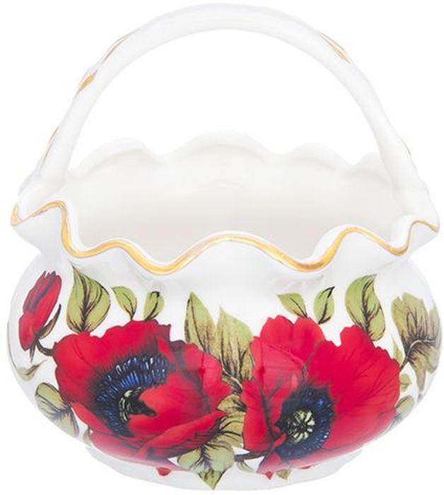 Корзинка Elan Gallery Маки, 250 мл740465Декоративная корзинка может использоваться как конфетница. Украсит Ваш интерьер и будет прекрасным подарком для Ваших близких! Изделие имеет подарочную упаковку. Объем 250 мл.