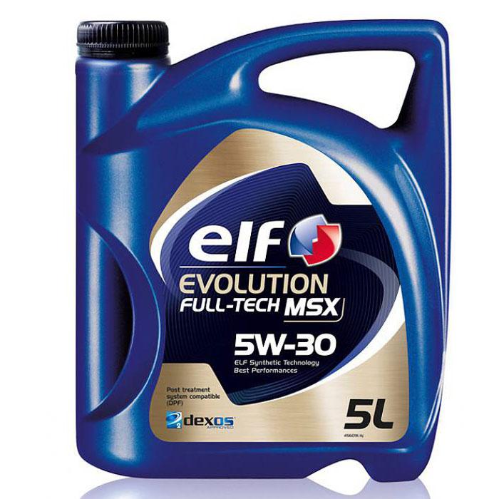Моторное масло Elf Evolution. Full-Tech MSX, 5W-30194904Высококачественное моторное масло, изготавливаемое по синтетической технологии ELF, для всех типов бензиновых и дизельных двигателей автомобилей. Специально разработано для автомобилей, снабженных системами каталитического дожига выхлопных газов. Одобрения и спецификации ACEA C3 API SN/CF VOLKSVAGEN: VW 502.00/505.01 Dexos2 BMW: LL-04 MERCEDES BENZ: MB Approval 229.52 (Обратная совместимость с MB-approval 229.51 & 229.31)