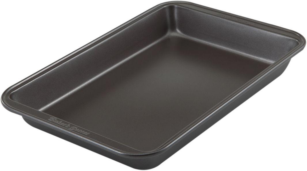 Форма для выпечки Bakers Secret Essentials, 18 х 28 см, цвет: темно-серый. 11144411114441Коллекция форм для выпечки тортов Bakers Secret из США являются хорошим приобретением любой хозяйки. Данные товары пользуются спросом, поскольку их отличает высокое качество. Формы для запекания Bakers Secret - выполнены из высококачественной стали. Внешнее антипригарное покрытие для удобства ухода и утолщенные стенки гарантируют равномерное пропекание изделия. Стальные формы для запекания стали популярными намного позже чугунных и керамических, и главное их преимущество – это абсолютная химическая нейтральность. Качественная нержавеющая сталь никак не скажется на вкусе готовой пищи и не будет подвержена воздействию кислот и щелочей, содержащихся в моющих средствах. Можно мыть в посудомоечной машине.