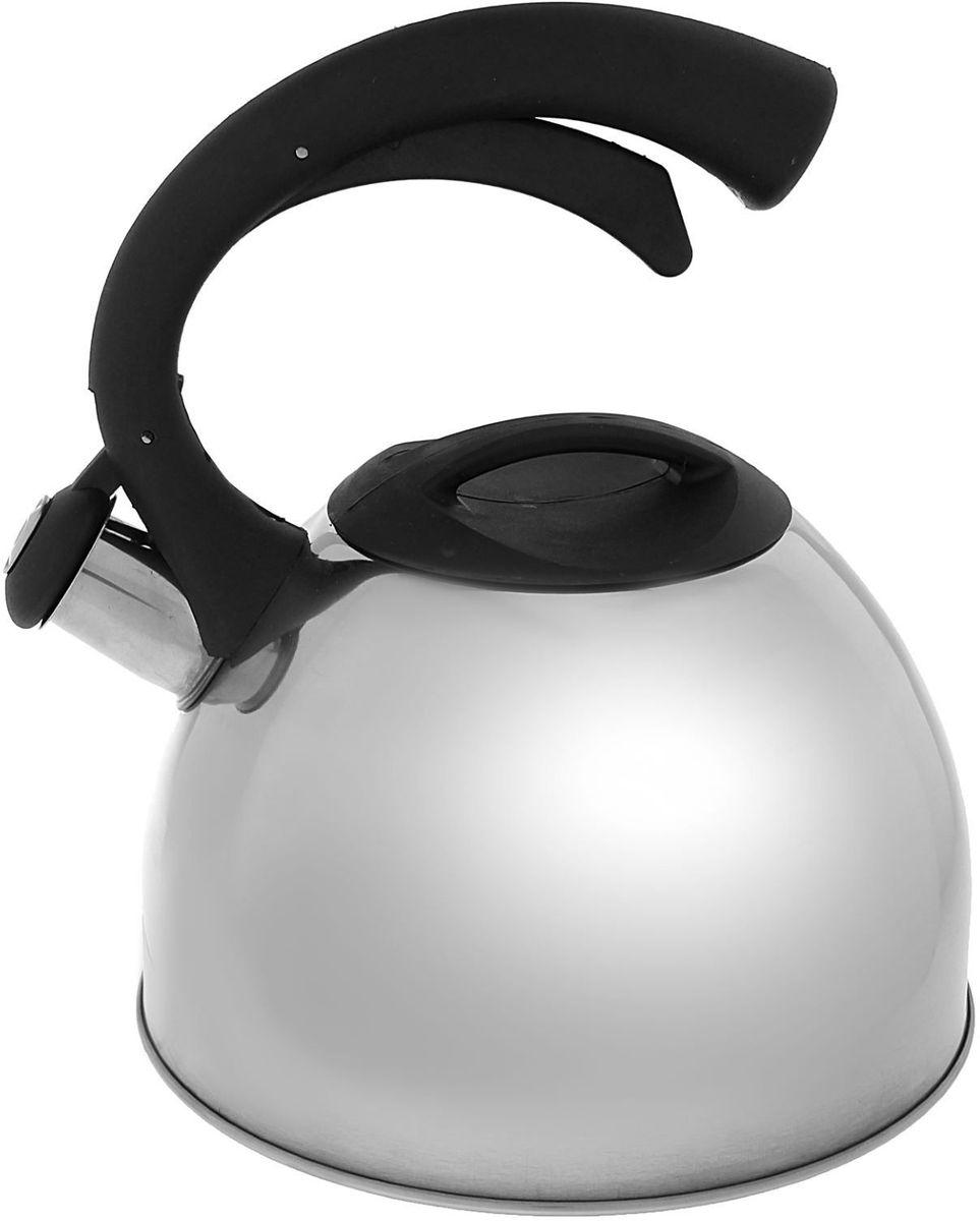Чайник Доляна Оптимал, со свистком, цвет: серый, 2,5 л1405200Бытовая посуда из нержавеющей стали славится неприхотливостью в уходе и безукоризненной функциональностью. Коррозиестойкий сплав обеспечивает гигиеничность изделий. Чайники из этого материала абсолютно безопасны для здоровья человека. Чем привлекательна посуда из нержавейки? Чайник из нержавеющей стали станет удачной находкой для дома или ресторана: благодаря низкой теплопроводности модели вода дольше остается горячей; необычный дизайн радует глаз и поднимает настроение; качественное дно гарантирует быстрый нагрев. Как продлить срок службы? Ухаживать за новым приобретением элементарно просто, но стоит помнить о нескольких нехитрых правилах. Во-первых, не следует применять абразивные инструменты и сильнохлорированные моющие средства. Во-вторых, не оставляйте пустую посуду на плите. В-третьих, если вы уезжаете из дома на длительное время - выливайте воду из чайника. Если на внутренней поверхности изделия появились пятна, используйте для их удаления несколько капель уксусной или лимонной...