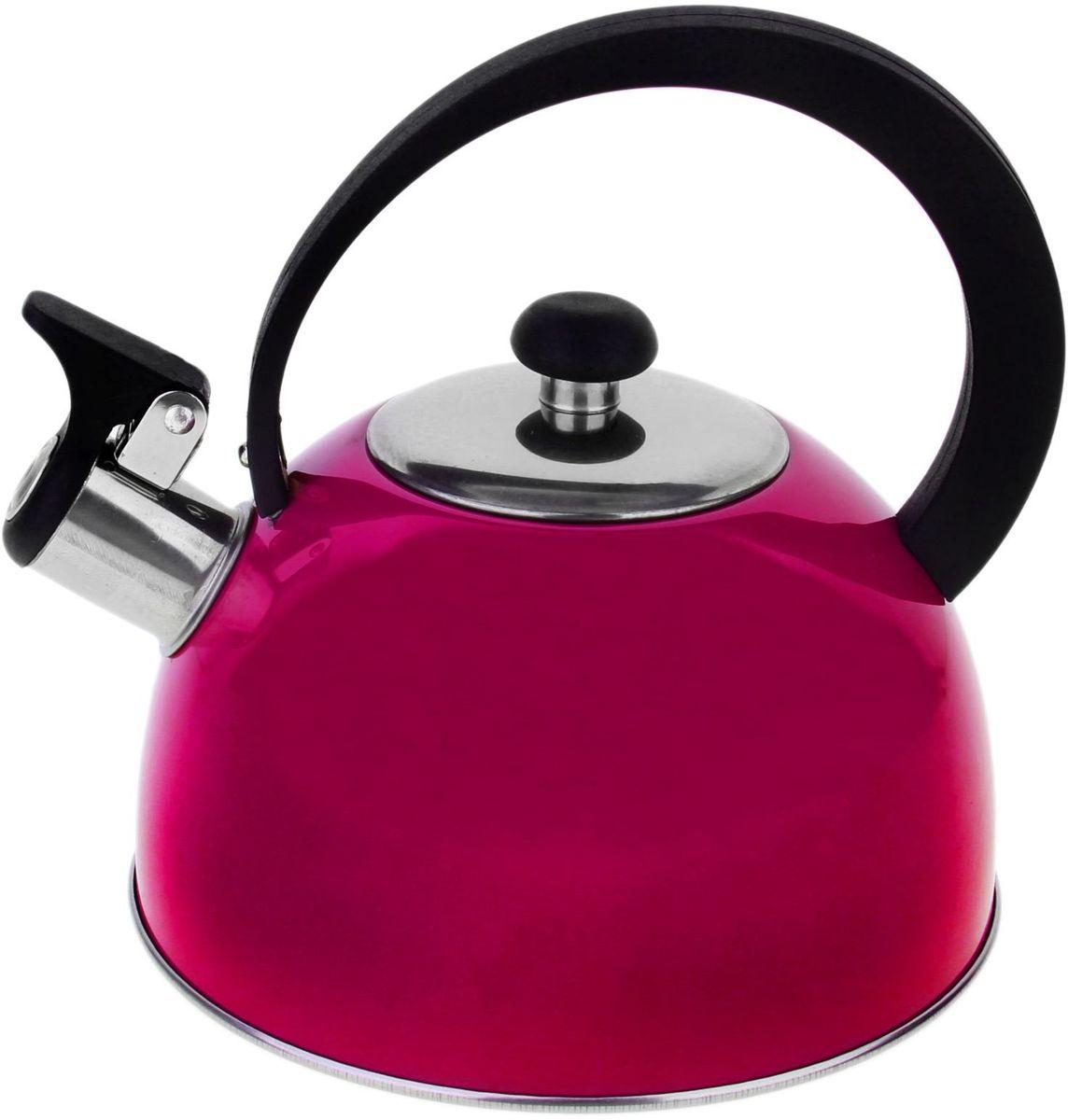 Чайник Доляна Радуга, со свистком, цвет: розовый, 2,1 л863661Бытовая посуда из нержавеющей стали славится неприхотливостью в уходе и безукоризненной функциональностью. Коррозиестойкий сплав обеспечивает гигиеничность изделий. Чайники из этого материала абсолютно безопасны для здоровья человека. Чем привлекательна посуда из нержавейки? Чайник из нержавеющей стали станет удачной находкой для дома или ресторана: благодаря низкой теплопроводности модели вода дольше остается горячей; необычный дизайн радует глаз и поднимает настроение; качественное дно гарантирует быстрый нагрев. Как продлить срок службы? Ухаживать за новым приобретением элементарно просто, но стоит помнить о нескольких нехитрых правилах. Во-первых, не следует применять абразивные инструменты и сильнохлорированные моющие средства. Во-вторых, не оставляйте пустую посуду на плите. В-третьих, если вы уезжаете из дома на длительное время - выливайте воду из чайника. Если на внутренней поверхности изделия появились пятна, используйте для их удаления несколько капель уксусной или лимонной...