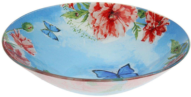 Тарелка глубокая Доляна Акварель, диаметр 20 см1571479Столовая посуда с природными мотивами в оформлении разнообразит интерьер кухни и сделает застолье самобытным и запоминающимся. Достоинства: качественное стекло не впитывает запахов; гладкая поверхность обеспечивает лёгкость мытья. Рекомендуется избегать использования абразивных моющих средств. Делайте любимый дом уютнее!