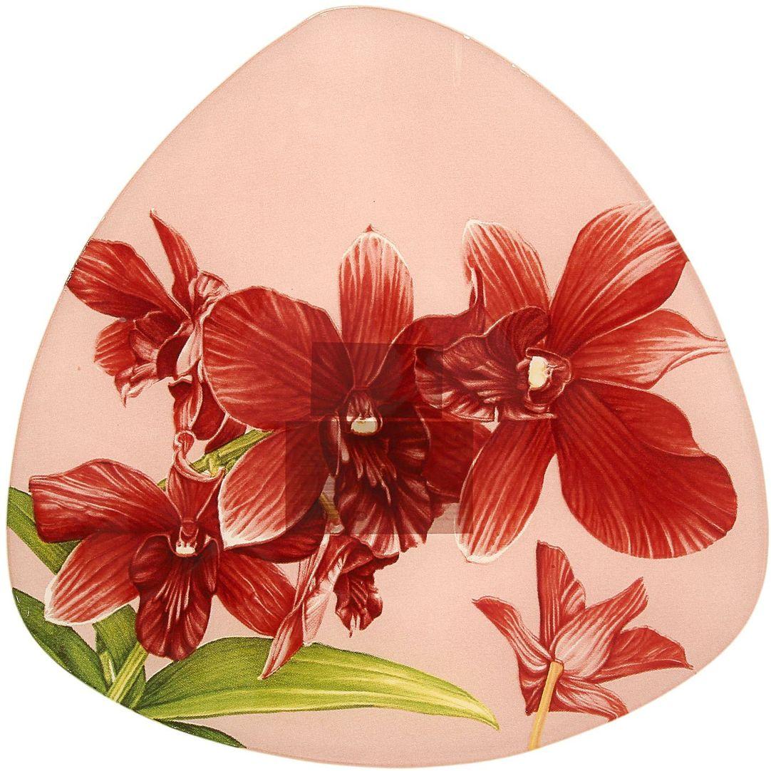 Тарелка десертная Доляна Бордо, диаметр 20 см230647Столовая посуда с природными мотивами в оформлении разнообразит интерьер кухни и сделает застолье самобытным и запоминающимся. Достоинства: качественное стекло не впитывает запахов; гладкая поверхность обеспечивает лёгкость мытья; яркий дизайн порадует ценителей стиля фолк. Рекомендуется избегать использования абразивных моющих средств. Делайте любимый дом уютнее!