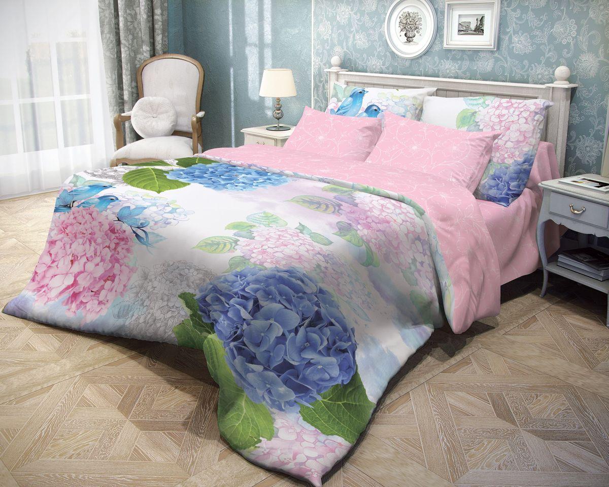 Комплект белья Волшебная ночь Spring Melody, 2-спальный с простыней евро, наволочки 70х70, цвет: голубой, розовый, белыйS03301004Роскошный комплект постельного белья Волшебная ночь Spring Melody выполнен из натурального ранфорса (100% хлопка) и оформлен оригинальным рисунком. Комплект состоит из пододеяльника, простыни и двух наволочек. Ранфорс - это новая современная гипоаллергенная ткань из натуральных хлопковых волокон, которая прекрасно впитывает влагу, очень проста в уходе, а за счет высокой прочности способна выдерживать большое количество стирок. Высочайшее качество материала гарантирует безопасность.