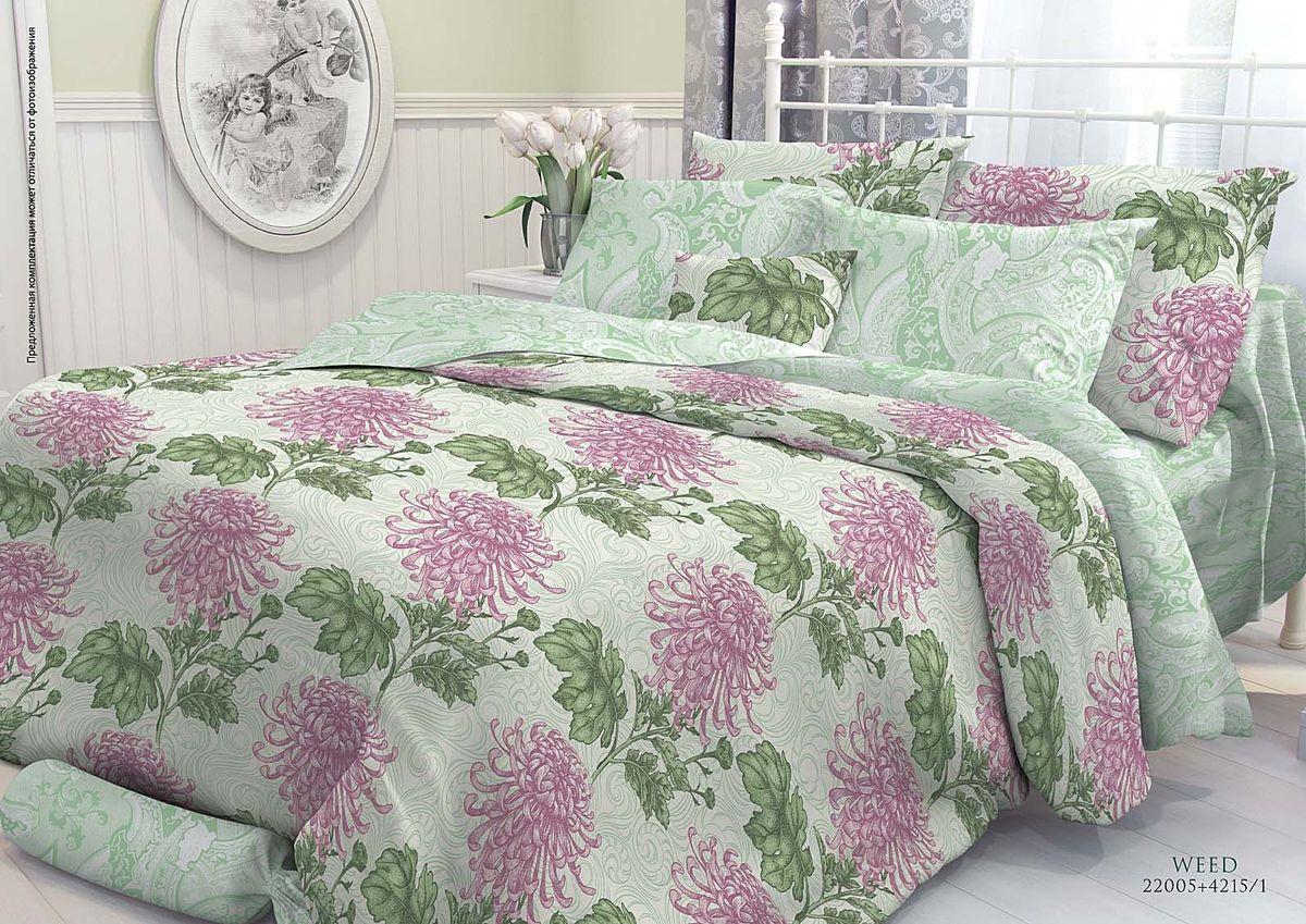 Комплект белья Verossa Weed, 1,5-спальный, наволочки 70х70707446