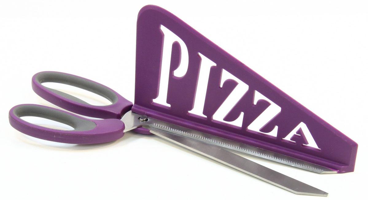 Ножницы кухонные для пиццы JJA, цвет: сиреневый, 33 х 12,5 х 8,5 см109023BОригинальные, стильные, невероятно удобные ножницы для пиццы. Совмещаю в себе ножницы с длиной режущего лезвия 18 см и лопаточку для подачи . Помогут нарезать ровные кусочки, и разложить по тарелкам этот вкусный продукт.