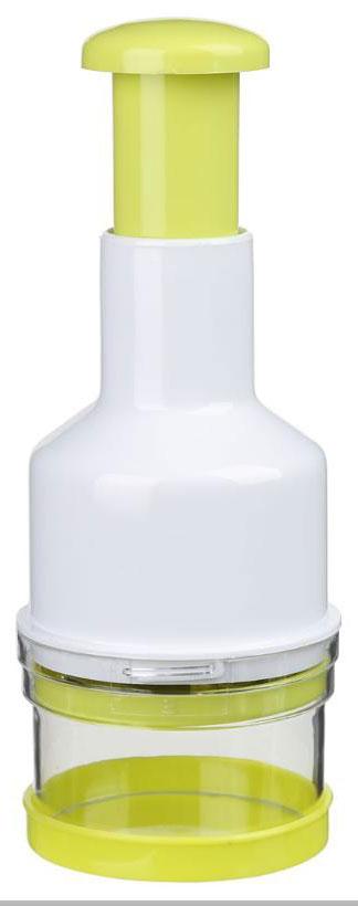 Измельчитель для зелени JJA, 8 х 8 х 23 см125111Это устройство поможет Вам всего за несколько движений порубить зелень для любимых блюд. Вам нужно просто загрузить зелень в контейнер измельчителя и острый зигзагообразный нож, поворачиваясь при каждом нажатии на рычаг, сделает своё дело, оставив на кухне идеальный порядок. Стильный и удобный аксессуар займёт достойное место на Вашей кухне и значительно облегчит Ваш труд.