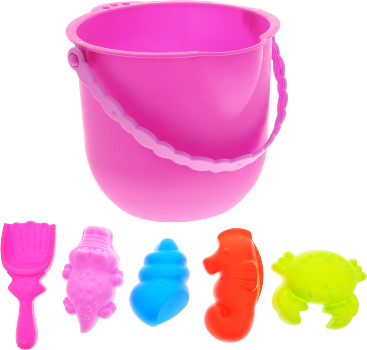 Baby Trend Набор для песочницы 6 предметов цвет ведра розовый 59473