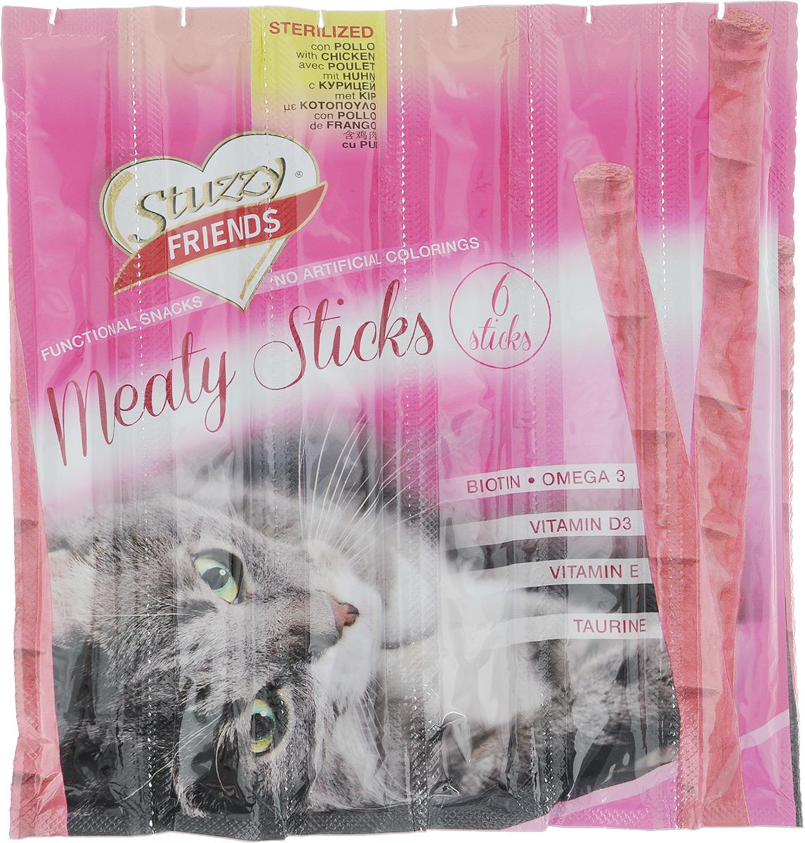 Лакомство для кошек Stuzzy Friend. Палочки, для стерилизованных кошек, курица, 132.C3602