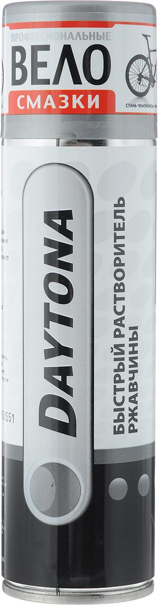 Daytona Быстрый растворитель ржавчины аэрозоль, 335 мл2010106Универсальная проникающая смазка: облегчает откручивание прикипевших болтов и гаек, растворяет ржавчину, вытесняет влагу, обеспечивает антикоррозийную защиту. Не вызывает повторной коррозии и консервирует поверхности материалов на длительный срок.