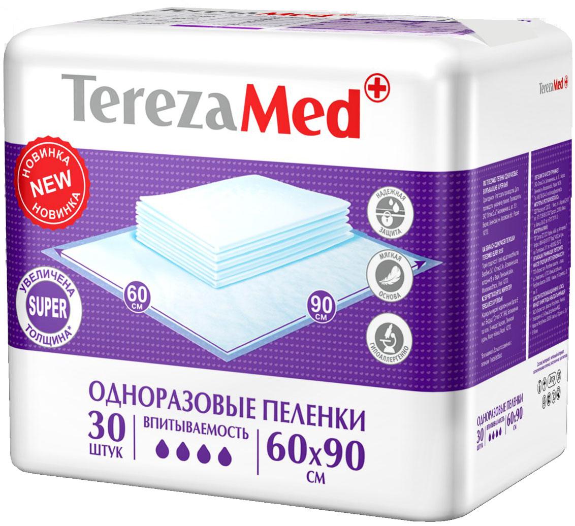 TerezaMed Пеленки одноразовые впитывающие Super 60 х 90 см 30 шт 16825