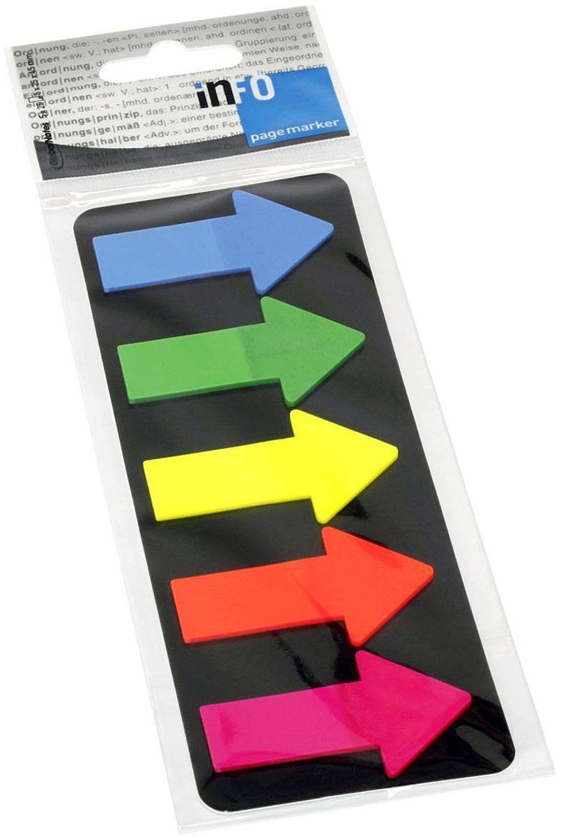 Global Notes Блок-закладка с липким слоем Стрелки 125 листов 268309268309Пластиковые закладки СТРЕЛКИ, с клеевым слоем. Закладки можно переклеивать несколько раз. 5 цветов по 25 штук. Размер 25х45 мм