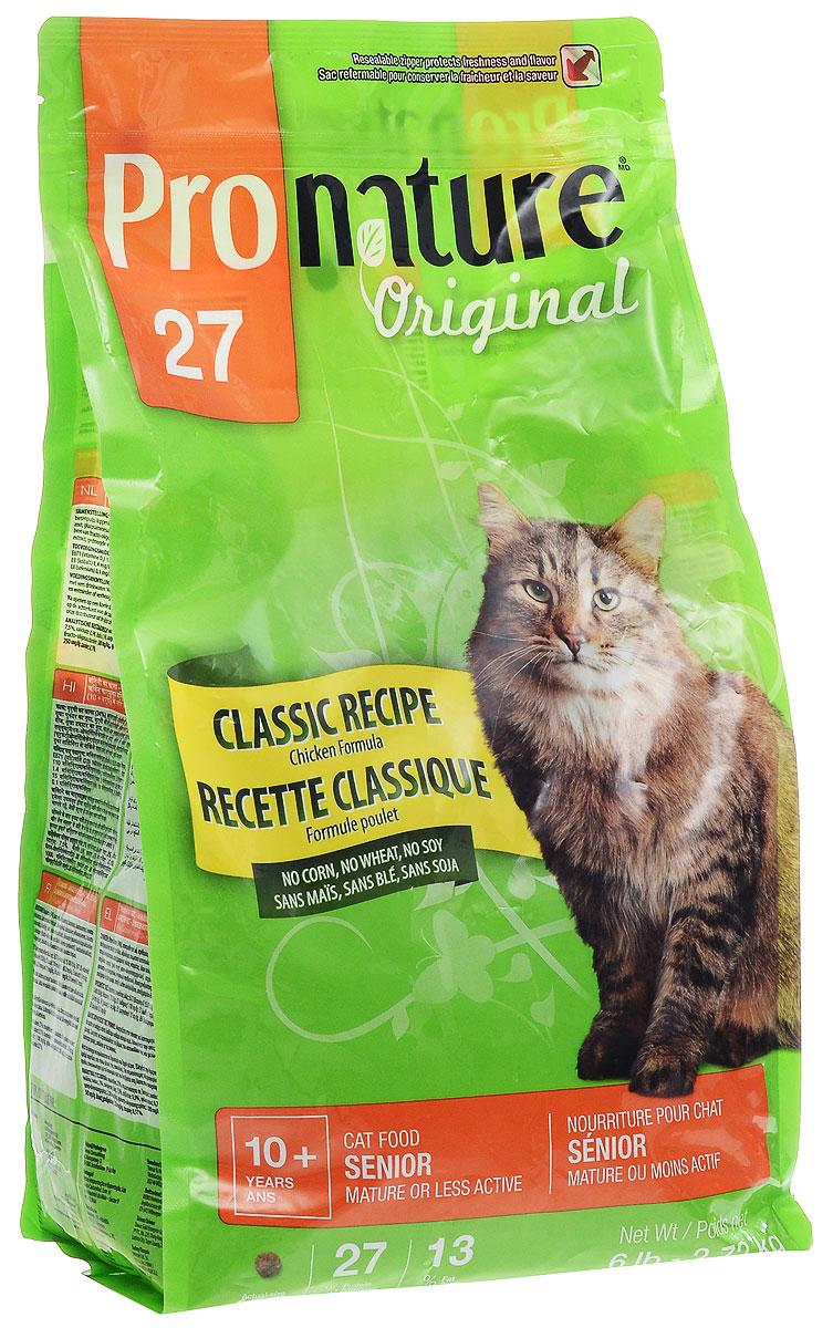 """Корм сухой Pronature """"Classic Recipe"""" для пожилых кошек зрелого возраста или малоактивных, с курицей, 2,72 кг 102.401"""