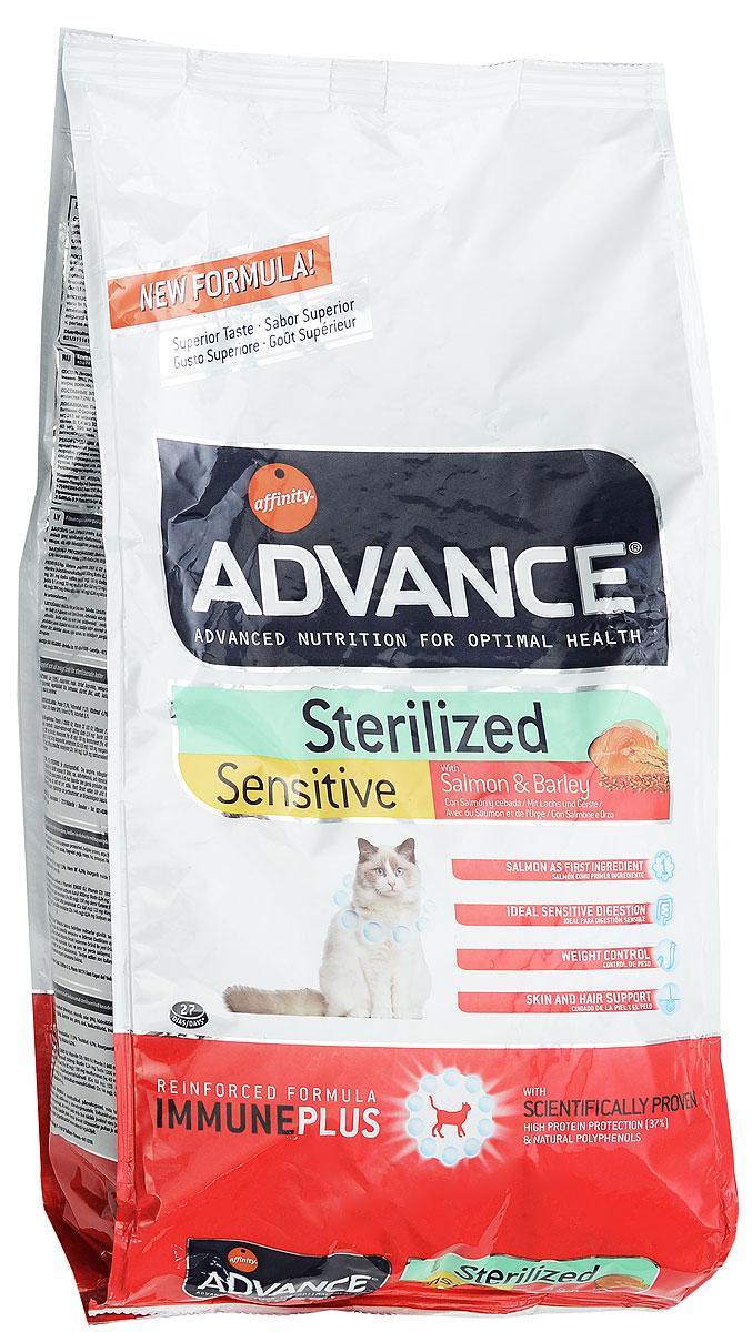 Корм сухой Advance Sterilized, для стерилизованных кошек, ячмень и лосось, 1,5 кг20729Сухой корм Advance Sterilized является полнорационным сбалансированным кормом для кастрированных котов и стерилизованных кошек. Особенности корма Advance Sterilized: предотвращает ожирение без потери мышечной массы; уменьшает риск появление мочекаменной болезни или камней; улучшение гормональных функций. Сухой корм Advance - это высококачественная продукция, основанная на последних разработках в области диетологии и питания, чтобы поддерживать вашего любимца в отличном состоянии. Advance полностью сбалансированный корм, который обеспечивает прекрасное самочувствие животного, как внутри, так и снаружи.