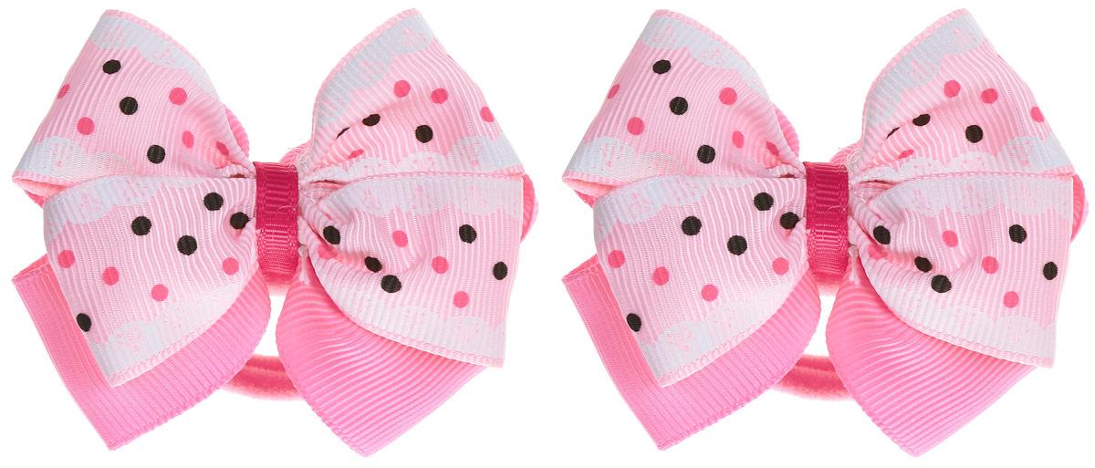 Babys Joy Резинка для волос Бант цвет розовый 2 шт MN 75/2MN 75/2_розовыйРезинка для волос Babys Joy станет отличным дополнением к прическе вашей малышки. В набор входят две текстильные резинки, дополненные декоративным элементом в виде бантика в горошек. Резиночки хорошо тянутся и прекрасно держат волосы.