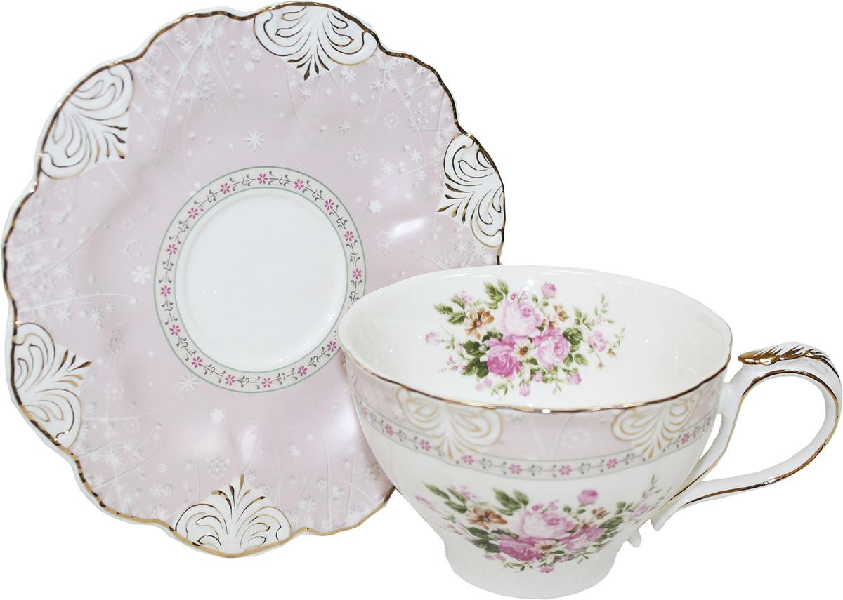 Чайная пара Chaozhou Fengxi Shenshui Розовый шелк, 2 предмета02-004