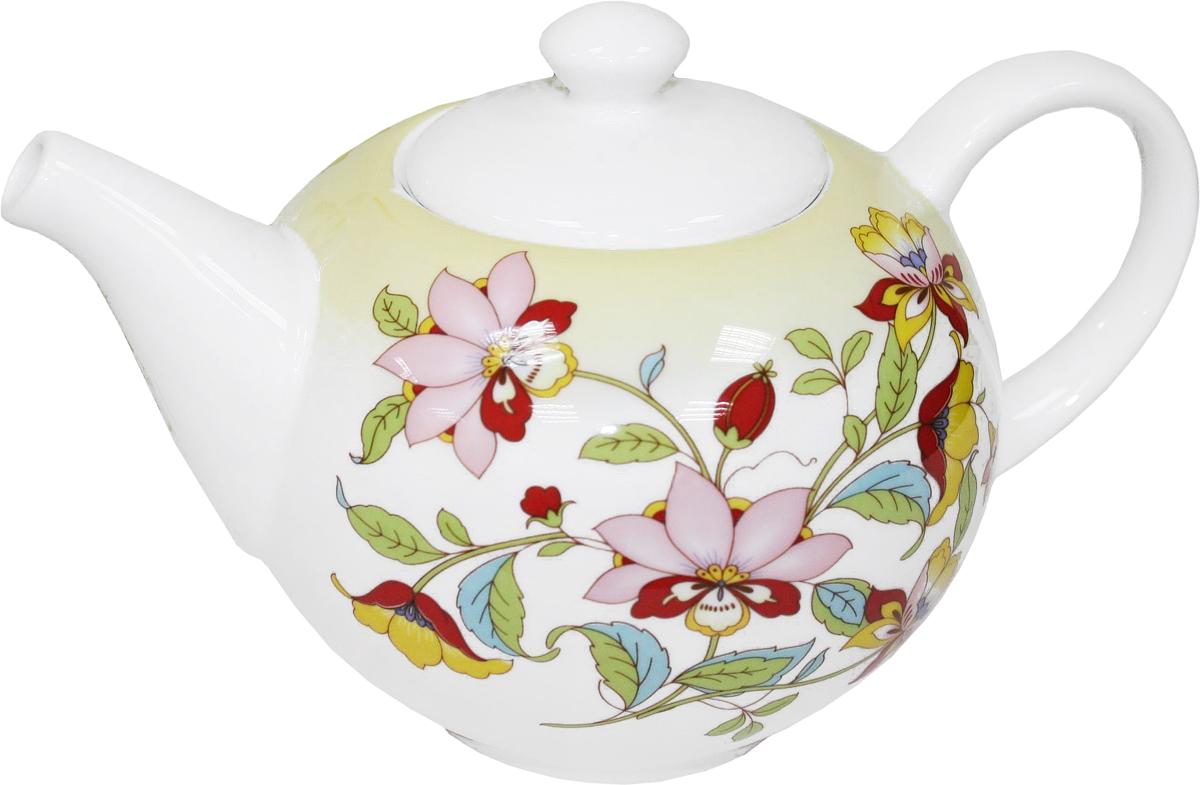 Чайник заварочный Azulejo Espanol Ceramica Sunny Flowers, 1 лCM000001328Заварочный чайник Azulejo Espanol Ceramica Sunny Flowers сочетает в себе кухонную практичность и декоративную утонченность.Чайник оформлен художественной печатью и станет отличным украшением вашего интерьера.