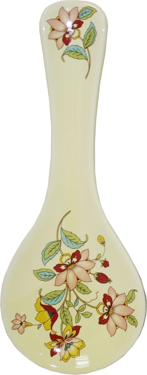 Подставка под ложку Azulejo Espanol Ceramica Sunny FlowersVT-1520(SR)Подставка под ложку Azulejo Espanol Ceramica Sunny Flowers сочетает в себе кухонную практичность и декоративную утонченность.Подставка оформлена художественной печатью и станет отличным украшением вашего интерьера.