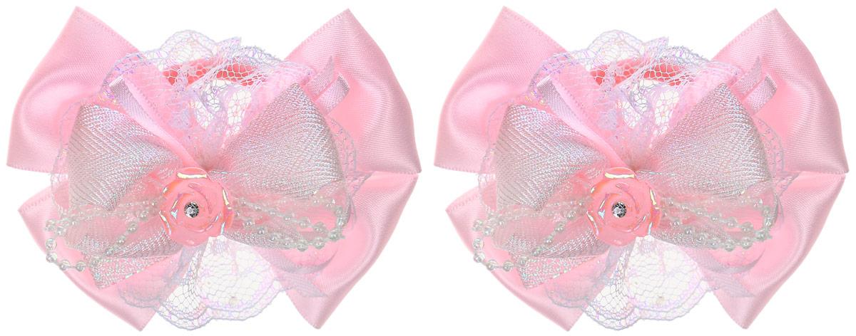 Babys Joy Резинка для волос Розочка цвет розовый 2 шт MN 207/2MN 207/2_розовый/розочкаРезинка для волос Babys Joy Розочка изготовлена из текстиля и дополнена двумя бантиками с декоративным элементом в виде розочки со стразом. Резинка надежно зафиксирует волосы и подчеркнет красоту прически вашей маленькой модницы. Рекомендовано для детей старше трех лет. В наборе 2 резинки для волос.
