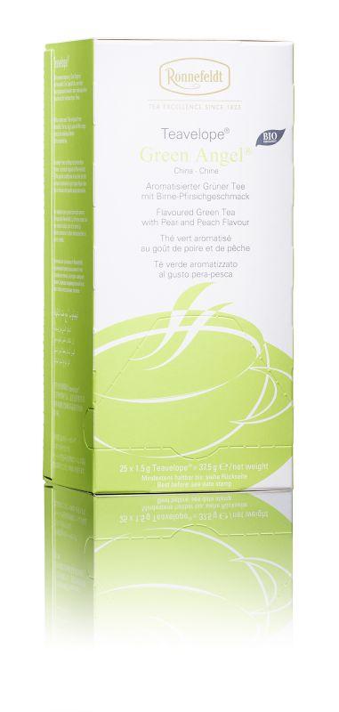 Ronnefeldt зеленый чай со вкусом груши и персика в пакетиках, 25 шт101246Типичная терпкость мягкого зеленого чая в композиции с сочно-сладким ароматом груши и персика.Чай из линии Teavelope произведен традиционным способом. Качество трав, фруктов и других ингредиентов отвечает самым высоким требованиям. А особая защитная упаковка сохраняет чай таким, каким его создала природа: ароматным, свежим и неповторимым.Уважаемые клиенты! Обращаем ваше внимание на то, что упаковка может иметь несколько видов дизайна. Поставка осуществляется в зависимости от наличия на складе.